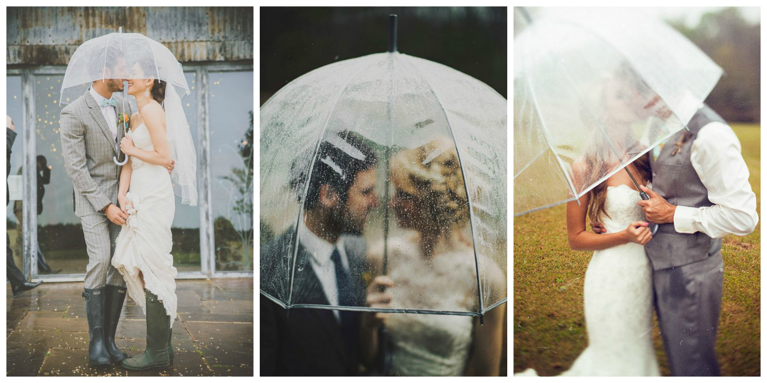Rain On Your Wedding Day 10 Ways To Weatherproof Look Perfect Bridal
