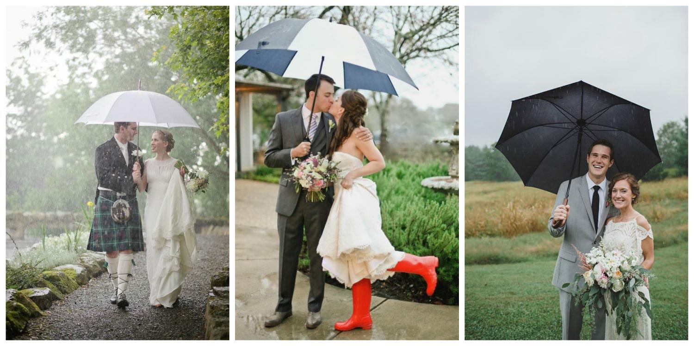 Rain On Your Wedding Day 10 Ways To Weatherproof Your Wedding Look