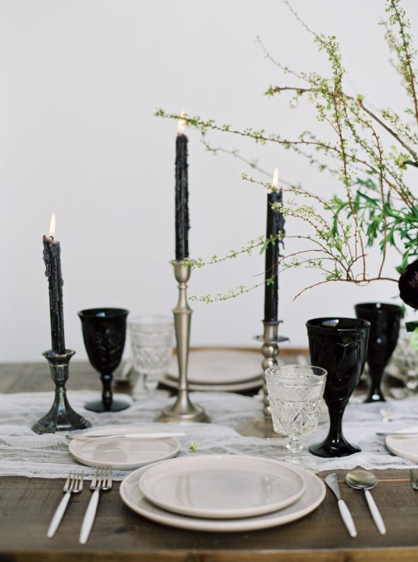 Spooky Yet Stylish Halloween Wedding Inspiration stylemepretty.com - blueberryphotography.com