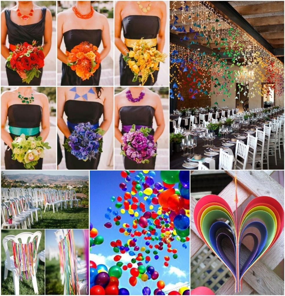 Rainbow Wedding Inspiration Perfect Day Bridal_0004