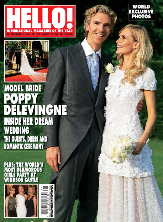 Poppy Delevingne marries in Chanel