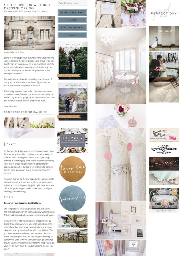 Perfect Day Bride Top Tips Wedding Dress Shopping Coco Wedding Venues_0001