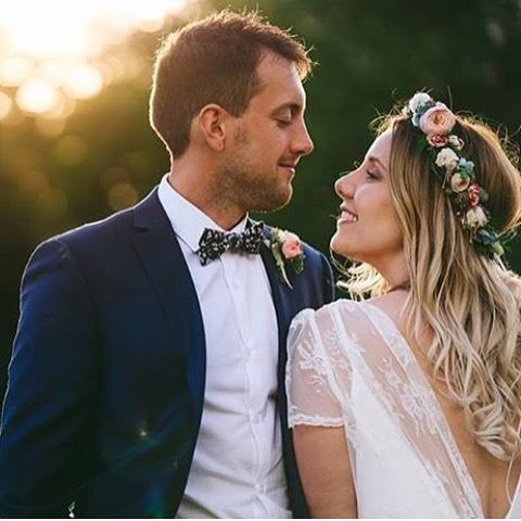 bride wearing charlie brear
