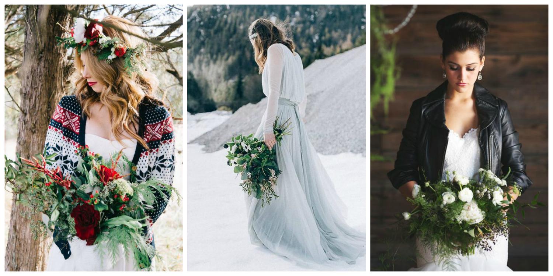 stylish winter brides