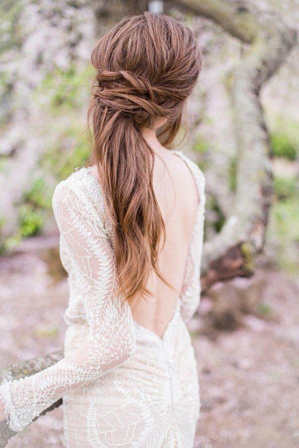 Modern and Minimalist Bridal Hairstyles modwedding.com - sallypinera.com