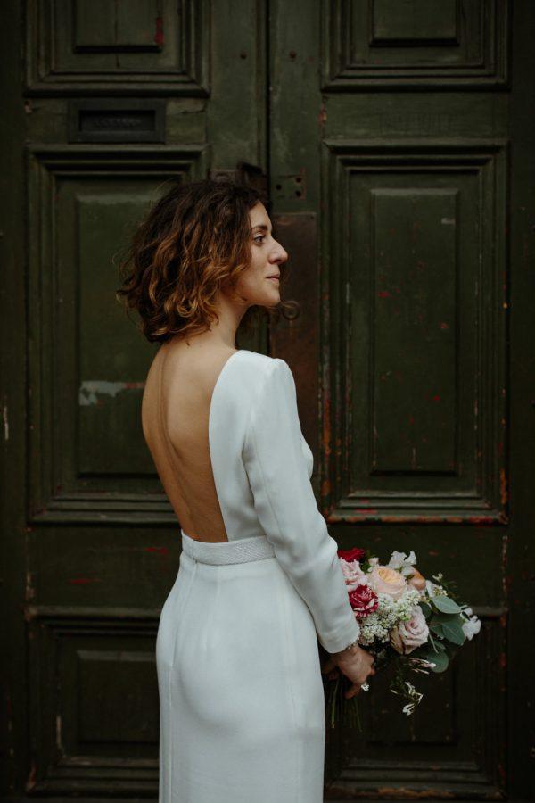 Modern and Minimalist Bridal Hairstyles rockmywedding.co.uk - wonderfulandstrange.co.uk