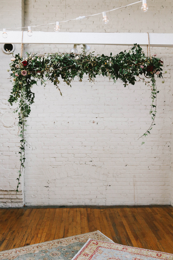 12 Of The Most Incredible Wedding Ceremony Backdrops Ruffled - photo by w&e photographie http://ruffledblog.com/sentimental-loft-wedding-in-birmingham